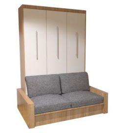 Łóżko w szafie z sofą