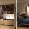Przykład pięknie wykonanego łóżka w szafie