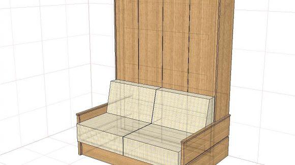 Łóżko chowane z sofą czyli funkcjonalność na małej przestrzeni